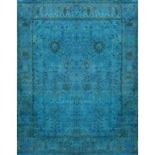 Rugsville Rug Overdyed Aqua Breeze 12254 - $4,499.00
