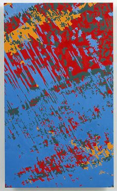 INGRID CALAME  From #274 Drawing (Tracing from the Indianapolis Motor Speedway), 2008  Oil paint on aluminum  19 1/4 X 11 1/2 inches