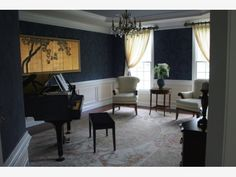 Piano Room - Home and Garden Design Ideas