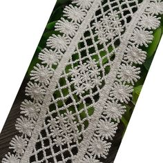 1-3/4 Inches Wide White Cotton Embroidered Lace Trims Cotton Tape For Garment and Home Decor DIY (Unit of sale: by 3 yards) * Check out this great item.
