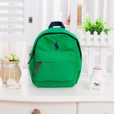 Children polo bags anti-lost canvas backpack Kids 100% cotton mochila infantil High quality satchel