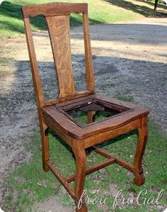 Refurbishing/updating a vintage, high back wooden chair easily and inexpensively. Antique Wooden Chairs, Wooden Armchair, Wooden Dining Chairs, Old Chairs, How To Antique Wood, Eames Chairs, Farmhouse Chairs, Ikea Chairs, Dinning Table