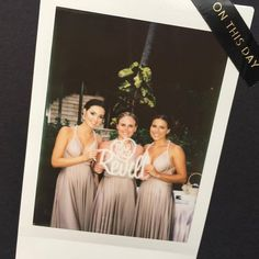What a gorgeous Polaroid shot of @nansisanya's bridesmaids in their Goddess By Nature dresses in Koh Samui 😍❤️ www.goddessbynature.com