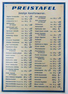 """DDR Museum - Museum: Objektdatenbank - """"Preistafel"""" Copyright: DDR Museum, Berlin. Eine kommerzielle Nutzung des Bildes ist nicht erlaubt, but feel free to repin it!"""