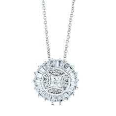 Sterling Silver Round Medallion Pendant Necklace in Cubic Zirconia CZ BERRICLE. $47.69. Gender : Women. Stone Type : Cubic Zirconia. Metal : Stamped 925. Stone Total Weight (ct.tw) : 1.04. Save 64% Off!
