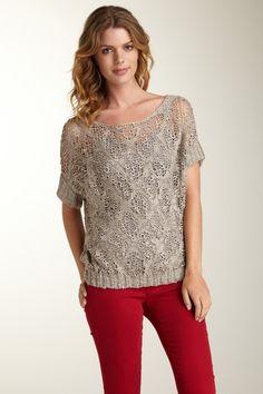 Love Stitch Knit Dolman Sweater