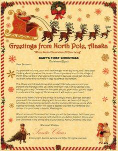 sample of babys first christmas santa letter from santas letters and gifts christmas letter from santa