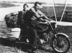 Robert Pirsig and his son during the bike tour that was at the core of Zen and the Art of Motorcycle Maintenance. I reread it every decade or so and each time it has a slightly different meaning to me.