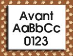 Avant Alphabet Embroidery Design by 8Clawsandapaw.com starting at .5