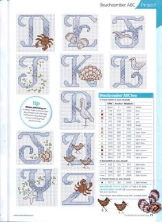 Cross-stitch At the Beach ABCs, part 3... with the color chart...    Gallery.ru / Photo # 70 - The world of cross stitching 165 - tymannost