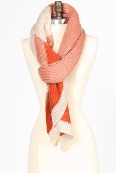 cream & rust colored scarf