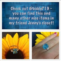 Beautiful Light Blue Ring YOU CAN FIND THIS BEAUTY IN MY FRIEND JENNYS CLOSET!! along with many other lovely items!!  Jewelry Rings