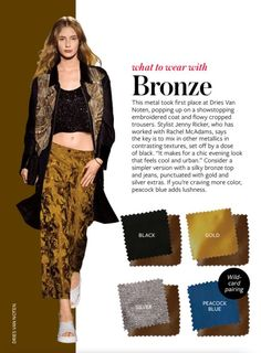 what to wear with bronze
