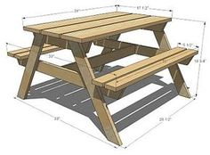 Kids Picnic Table....my Hubbyu0027s Next Project!! I Love That