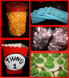 Dr. Seuss awesome theme goodies       Ohhhh, I'm totally going to have a Dr. Seuss/my Birthday party on March 1st.