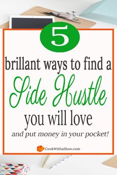 Bring in extra money from home with a side hustle and remove the pinch of money stress!! | side hustle | extra income | money from home | income from home | income on the side | work from home | free worksheet Cook With a Shoe