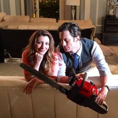 Back to the grind and gore and guffaws. #screamqueens @nasimpedrad @theoliverhudson