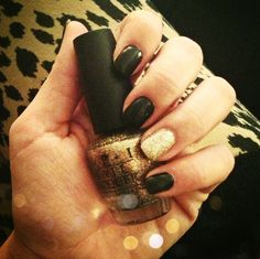 Black and gold nails - so doing this during Greys tomorrow :)