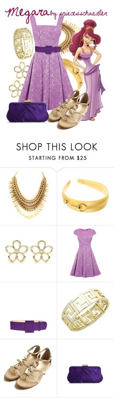 """Megara"" by princesschandler ❤ liked on Polyvore featuring L. Erickson, Tiffany & Co., Warehouse, FAUSTO PUGLISI, Charter Club, Urban Expressions, character, disney characters, princess and megara"