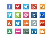 GraphicBurger » 40 Social Media Flat Icons