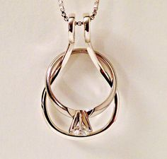 the ring holder necklace also called a wedding ring holder and an engagement ring holder is a great way to wear rings when you cant have them on your - Wedding Ring Holder Necklace