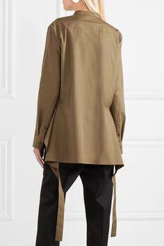 Jil Sander - Paneled cotton-poplin shirt f62a5a360