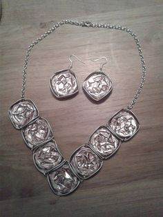 nespresso necklace and earrings