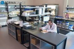 Diagnostics Receiving Station | FORMASPACE | Custom workbench designed to serve as the receiving station for lab samples.