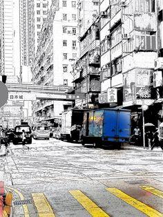 A corner in Hong Kong city