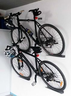 How To Hang A Bike In Garage on storing bikes in garage, how my room to hang in a bmx bike, great way to hang bikes in the garage,