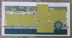 layout by Hilary Reynolds using CTMH Avonlea paper Scrapbook Sketches, Scrapbooking Layouts, Scrapbook Pages, Picture Layouts, Close To My Heart, Page Layout, Card Making, Diy Crafts, Hollywood Studios