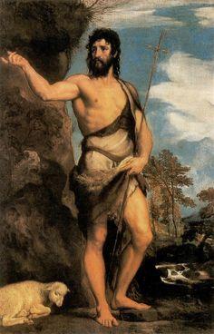 auto-portrait:    Titian. John the Baptist. 1530s