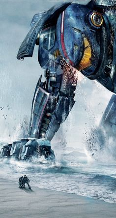 Pacific Rim_Gipsy Danger WallpaperYou can find Pacific rim and more on our website. Godzilla, Robert Kazinsky, Clifton Collins Jr, Pacific Rim Jaeger, Arte Peculiar, Gipsy Danger, Handy Wallpaper, Smoke Wallpaper, Ron Perlman