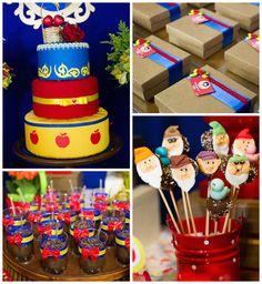 Snow White birthday party via Kara's Party Ideas KarasPartyIdeas.com Cake, banners, decor, favors, and more! #snowwhite #snowwhiteparty #snowwhitebirthdayparty (1)