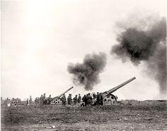 Massive guns pound Vimy Ridge, April 1917.  DEPARTMENT OF NATIONAL DEFENCE
