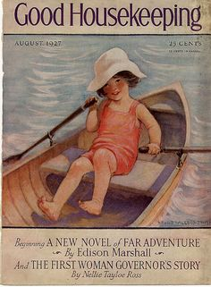 Cant explain it, but I love the vintage cover art..Good Housekeeping cover, August 1927