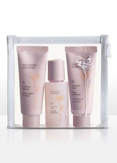 $21 ARTISTRY® essentials Hydrating Skin Care System - Mini Travel Set 3 Pack www.amway.ca/...