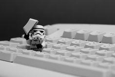 Star Wars Stormtrooper Lego Keyboard action shot