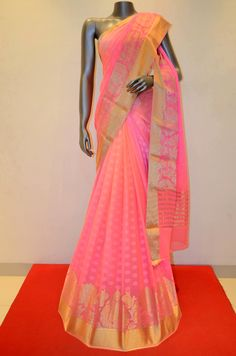 Pink Gorgeous Shaded Pure Georgette Silk Saree With Zari Border Product Code: AB203565 Online Shopping: Pink Gorgeous Shaded Pure Georgette Silk Saree With Zari Border Product Code: AB203565 Online Shopping: http://www.janardhanasilk.com/Saree-Collections/Printed-Georgette-Silk-Saree?product_id=2750&limit=25