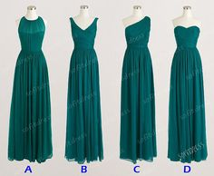 hunter green bridesmaid dress long bridesmaid dress by sofitdress, $119.00