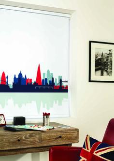 Roller Blinds by Louvolite® Cityscape - Rule britannia.