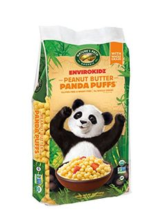 EnvirokidzOrganic GlutenFree Cereal Peanut Butter Panda Puffs 25 Ounce Bag Pack of 3 -- Check this awesome product by going to the link at the image. Note: It's an affiliate link to Amazon.