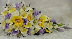 Latex White Yellow Frangipanies Lilac Yellow Cream Rose Wedding Bouquet Teardrop   eBay