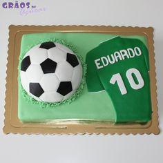 Futebol - Bola e Camisola - Grãos de Açúcar - Bolos decorados - Cake Design
