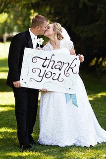 """Wedding """"Thank You"""" Picture"""