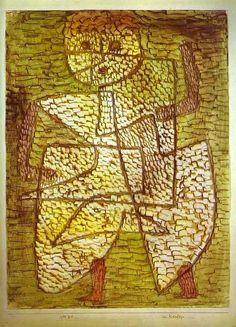 'der zukunft mann', wasserfarbe von Paul Klee (1879-1940, Switzerland)