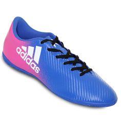 5c2e88d6ec889 Tenis de Futbol Adidas X 16.4 IC - Azul y Rosa