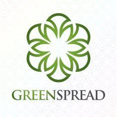 Exclusive Customizable Ecological Star Logo For Sale: Green Spread | StockLogos.com
