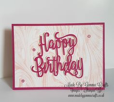 Stampin'Up! Happy Birthday Gorgeous! Stampin'Up!  5 Fab Cards in a Flash Mini Series Click here for the tutorial https://youtu.be/fD9_kyR4V4w
