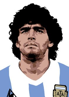 Diego Armando Maradona is a retired Argentine professional footballer. Retro Football, Football Art, World Football, Nfl Superbowl, American Football, World Cup Draw, Diego Armando, Sports Drawings, Soccer Art